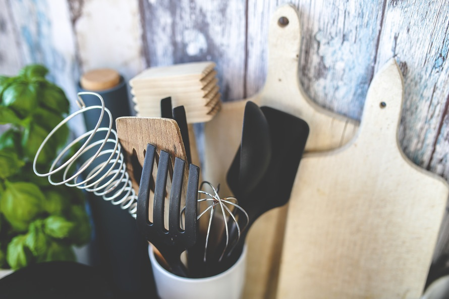 material necessário na cozinha
